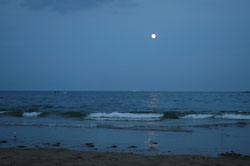 Full moon over Manchester-by-the-Sea beach