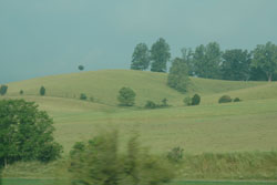 Virginia countryside whizzing by