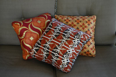 African Fabric pillows