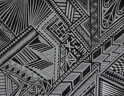 1 pen, 1 paper drawing using straight lines