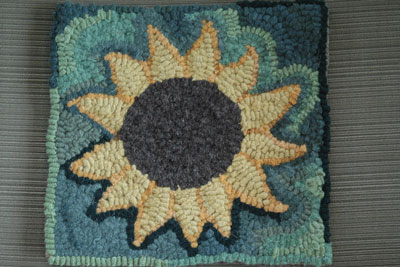 sunflower rug 8″x8″