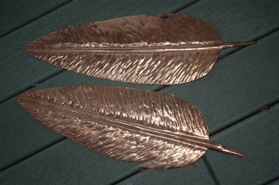 feather vane halves