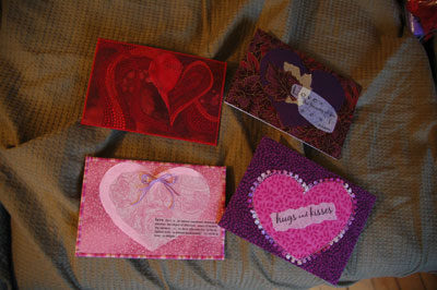Fabric postcards by Holly, Ann and Donna