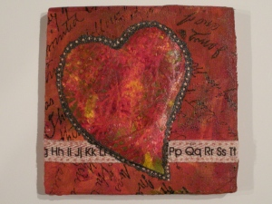 puffy heart plaque