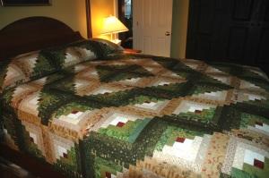 log cabin quilt top