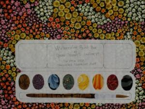 Watercolor quilt label