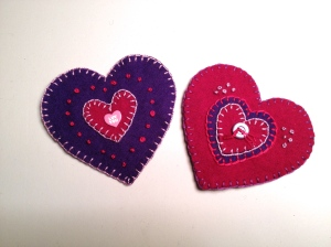 embroidered Valentines