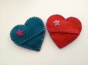 embroidered valentines - back view