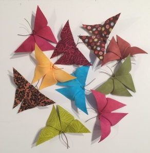 fabric origami butterflies