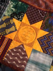 Josiah's quilt label